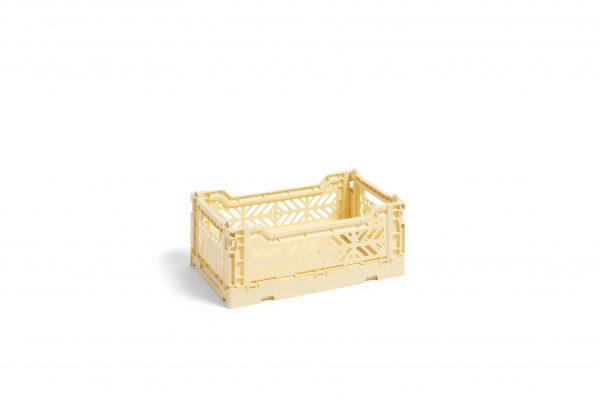 Caixa de arrumação Colour Crate S Light Yellow – Hay